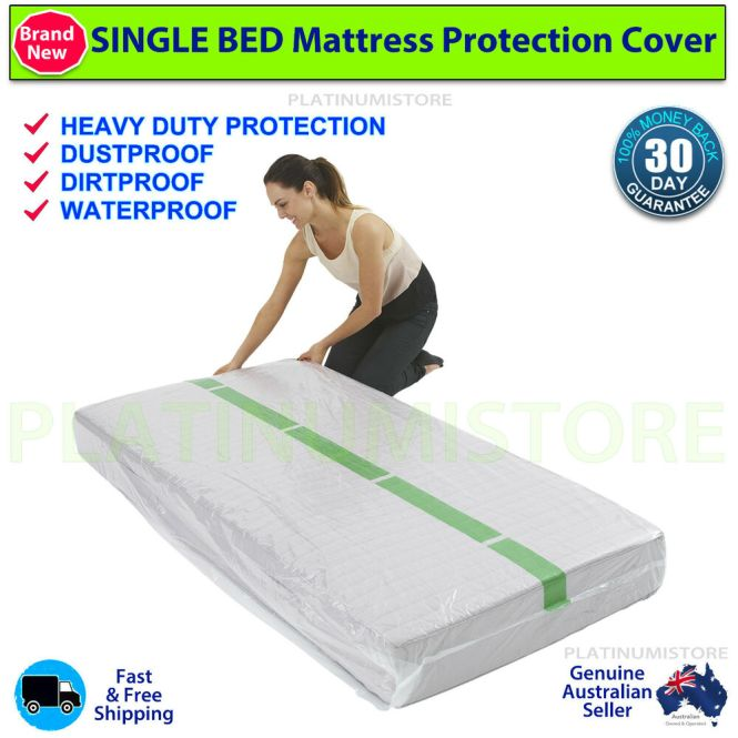 2 Single Size Bed Mattress Protect Plastic Cover Moving Storage Bag Ebay