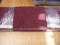 SET OF 12 STAIR TREADS loop pile carpet good QUALITY RED ...