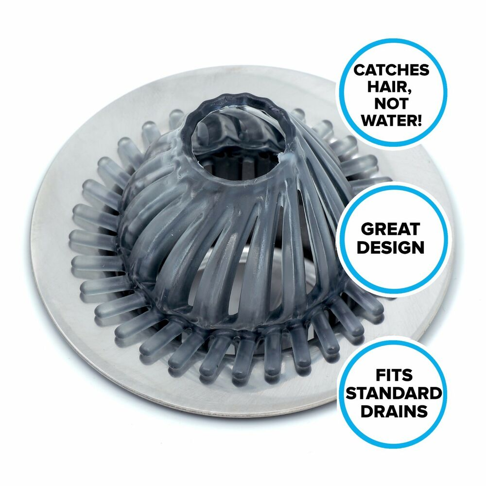 Hydro Flow Hair Catcher for Tub  Shower Drains SlipX Solutions Drain Protector 70631131015  eBay