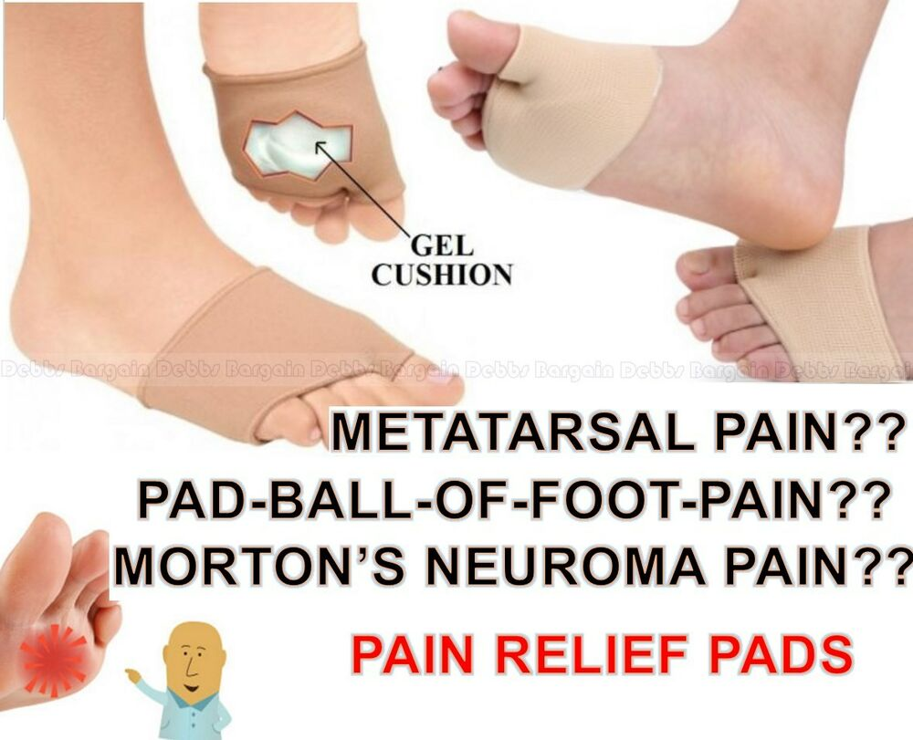 Metatarsal Ball Of Foot Pain Relief Gel Pads Cushion Forefoot Toe Shoe Insole   eBay