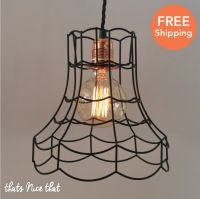 Industrial Lampshade Light Lamp Shade Frame Fitting Cage ...