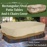 Patio Garden Rectangular Oval Table Chair Cover Outdoor ...