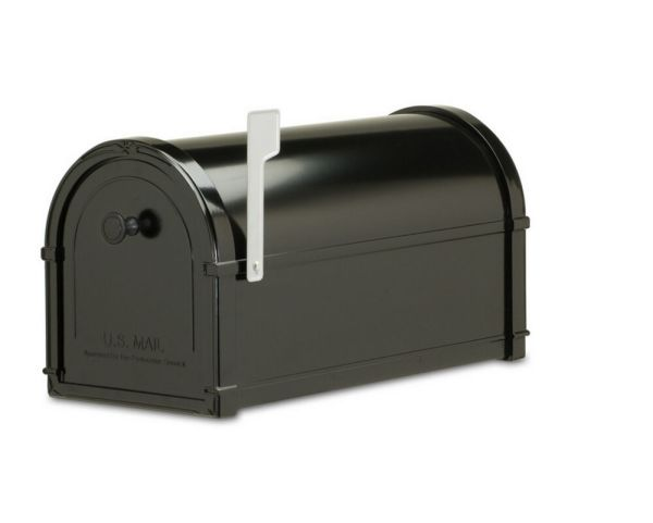 Black Post Mount Mailbox Metal Architectural Mailboxes Bellevue 10-in X 11.3-in