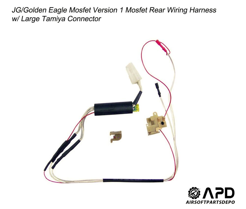 hight resolution of details about jg golden eagle mosfet wiring rear harness large airsoft aeg version 1