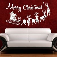 Christmas Wall Art Quote Sticker Merry Christmas Window ...