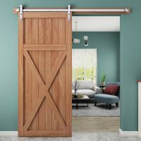 Country Rustic Interior Stainless Steel Sliding Barn Door ...