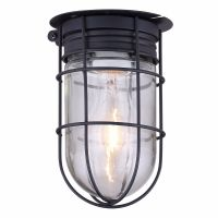 Outdoor Caged Light Barn Ceiling Exterior Wall All Weather ...