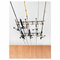 NEW Ceiling Rod Rack Storage Reel Fishing Mount Horizontal