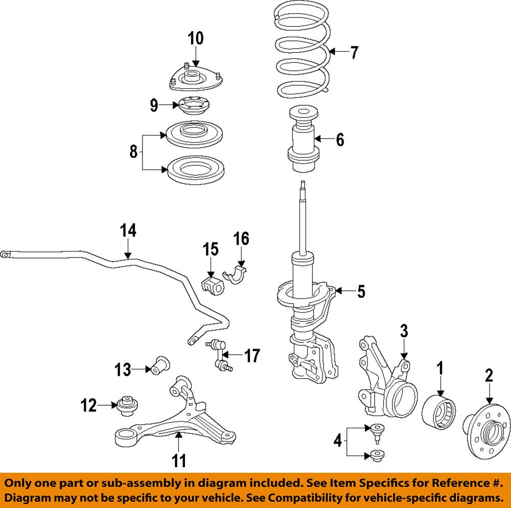 medium resolution of details about honda oem 02 05 civic front suspension coil spring insulator 51402s5a701