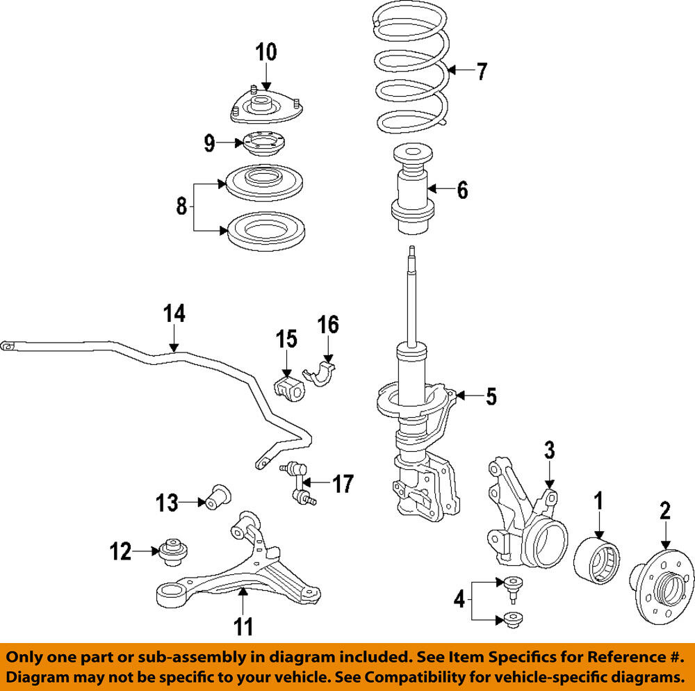 hight resolution of details about honda oem 02 05 civic front suspension coil spring insulator 51402s5a701