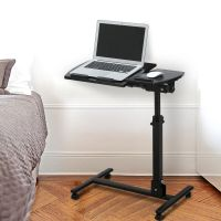 Rolling Laptop Cart Mobile Stand Desk Notebook Height ...