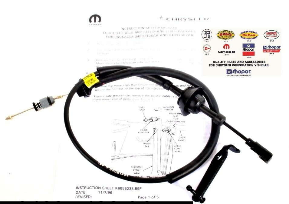 Dodge Ram 2500 3500 Cummins Diesel 12 Valve throttle Cable