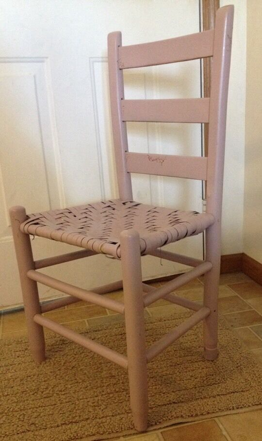 Vintage Wooden Cane Bottom Chair Ladder Back Country  eBay