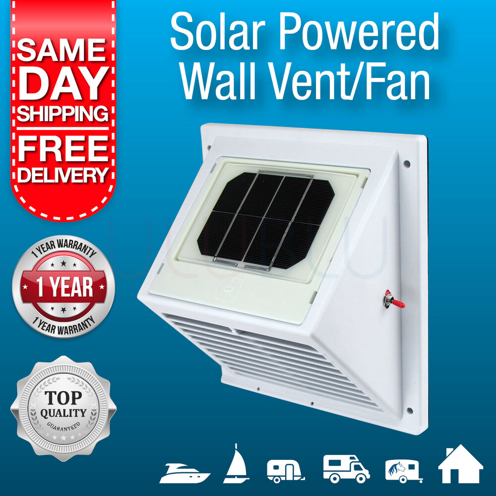 NEW Solar Powered Wall Vent  Exhaust Fan Air Extraction Vent Solar 9330420191080  eBay