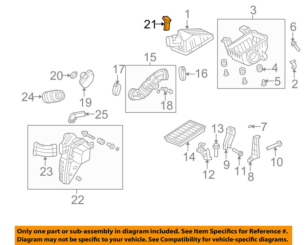 medium resolution of honda oem 07 11 element mass air flow sensor 37980rta003 ebay its honda s flow diagram not their engine diagram