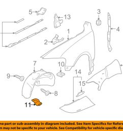 details about vw volkswagen oem 04 07 touareg fender apron cover panel right 7l6809968 [ 1000 x 798 Pixel ]