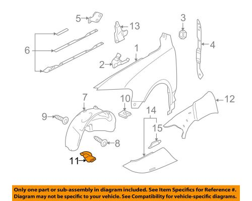 small resolution of details about vw volkswagen oem 04 07 touareg fender apron cover panel right 7l6809968