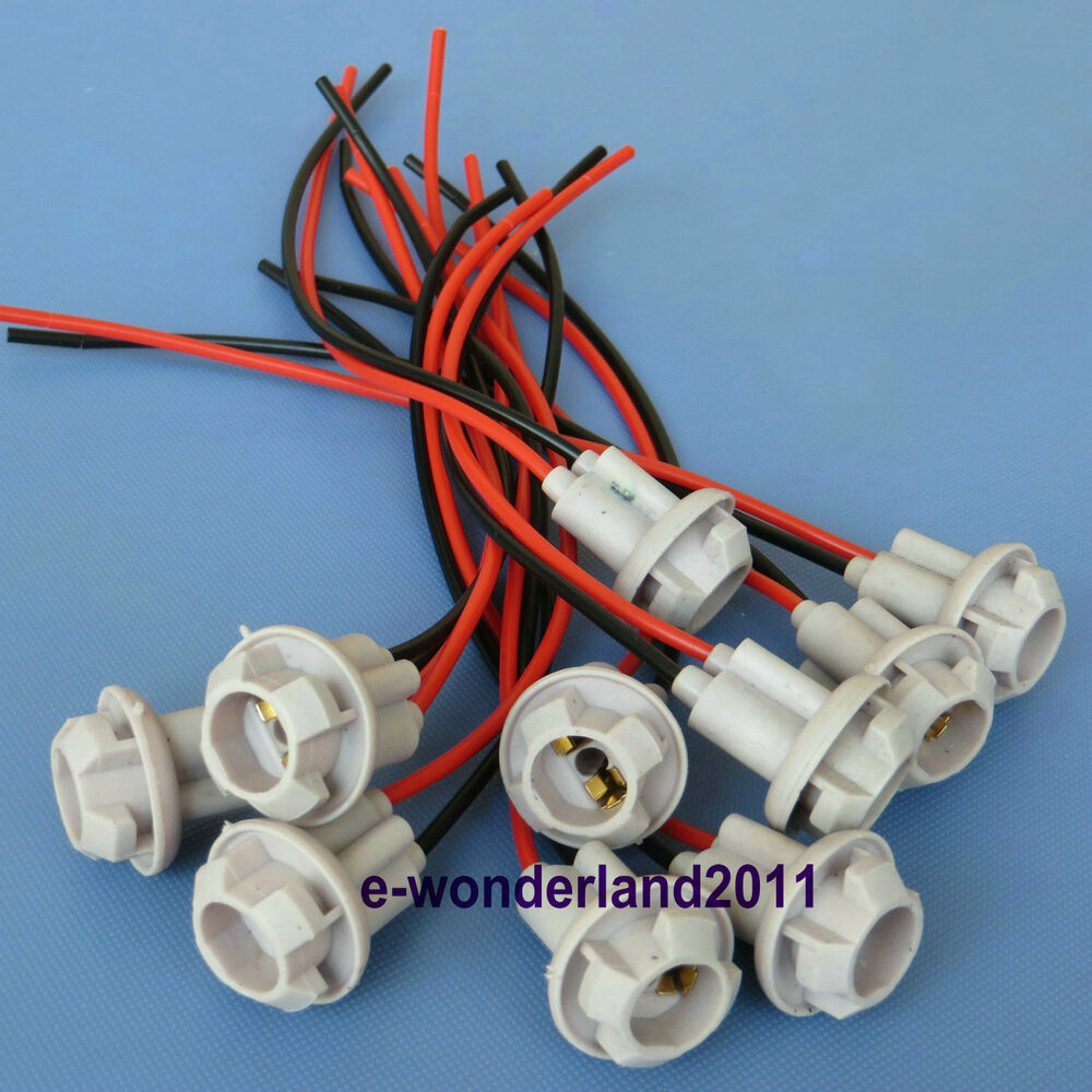 hight resolution of details about 10 x t10 female plug wiring harness sockets wire for clearance cab marker light