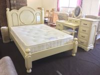 Shabby Chic Victorian Double French Style Cream Bed Frame ...