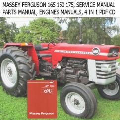 Massey Ferguson 175 Parts Diagram Civic Obd2a Wiring 165 150 Tractor Service Manual Ops Engines Manuals Ebay