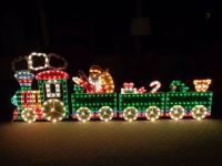 4-Piece Holographic Lighted Motion Train Set Christmas ...