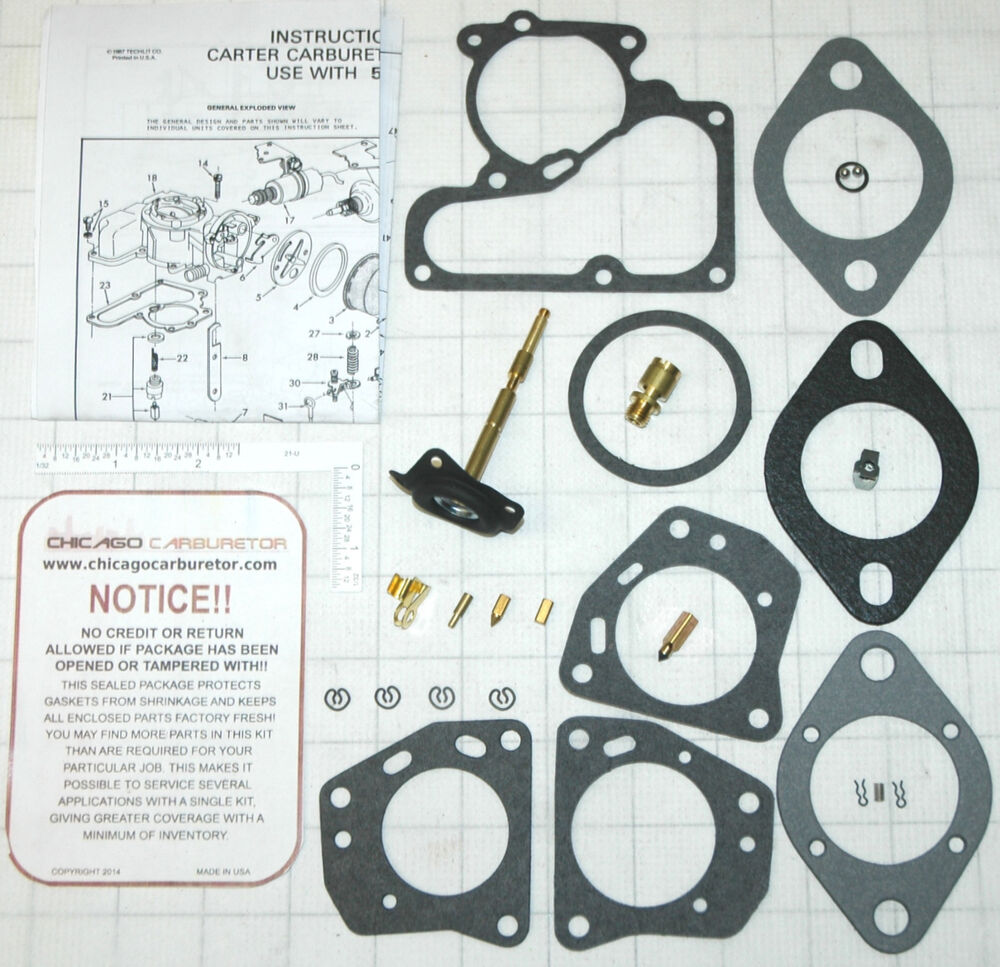hight resolution of details about 1970 76 carb kit carter 1 barrel yf jeep 6 4 cyl engine 153 232 250 258