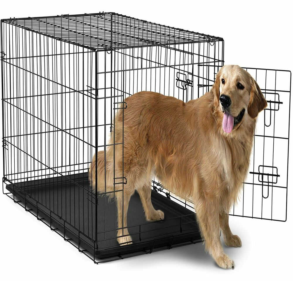 Extra Large Dog Crate Kennel XXL XL Huge Folding Pet Wire Cage Giant Size Breed 822443875324  eBay