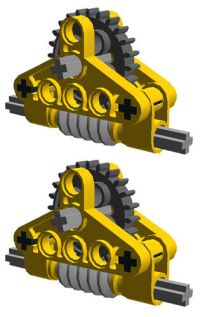 2 Lego GEAR REDUCERS (technic,mindstorms,nxt,gearbox,worm ...