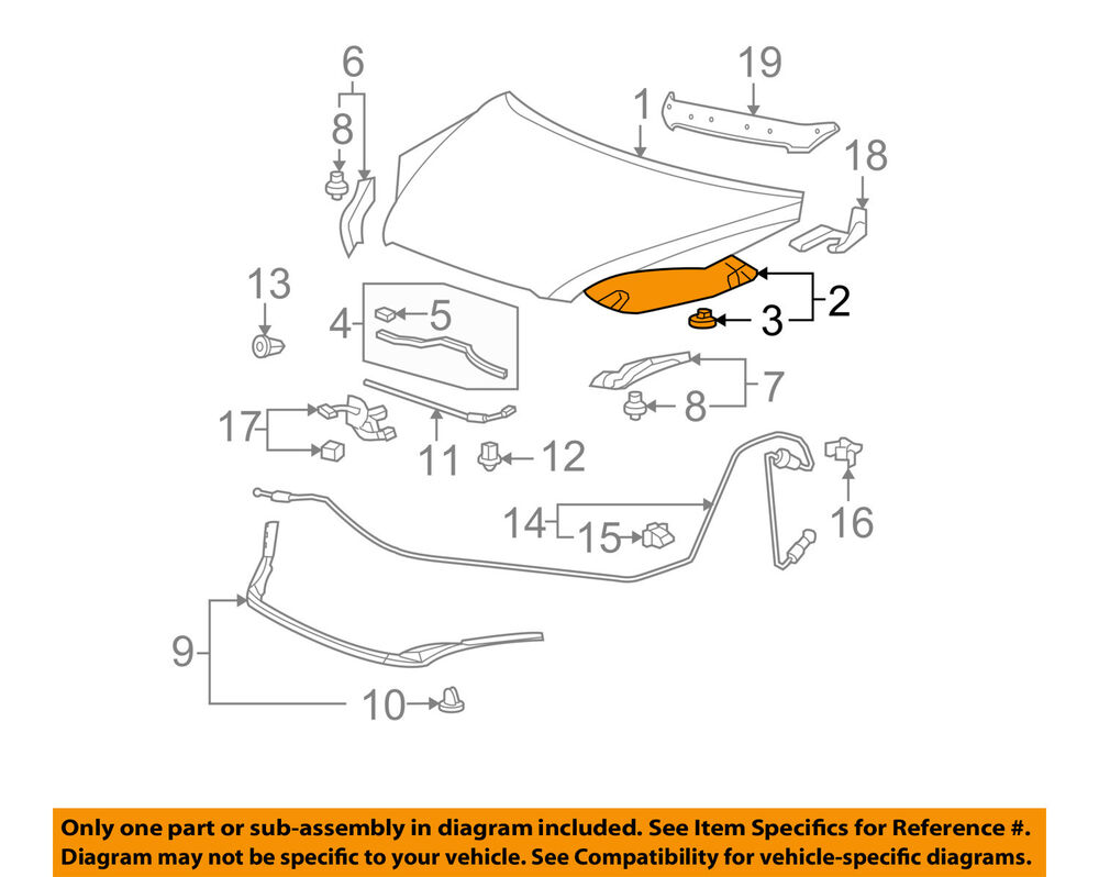 hight resolution of details about honda oem 07 09 cr v hood insulation pad liner heat shield 74141swaa00