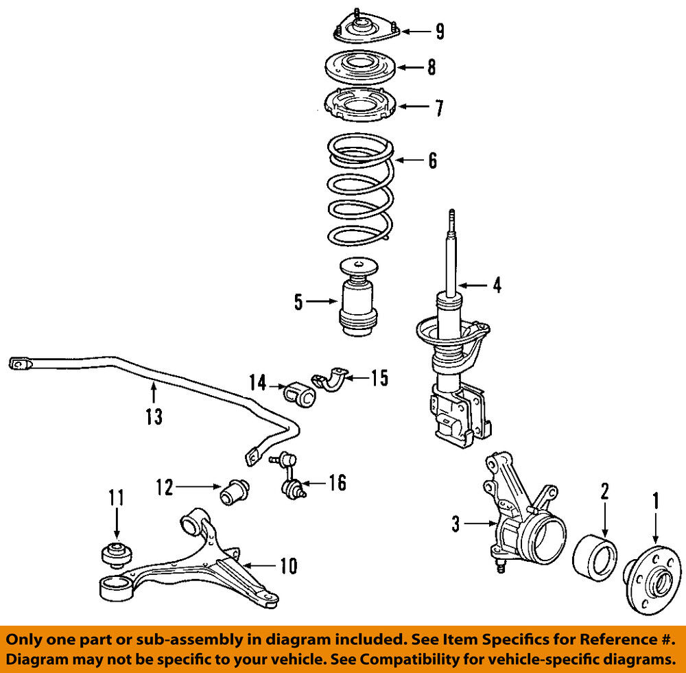 hight resolution of details about honda oem front wheel hub 44600s87a00