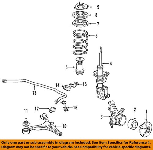 small resolution of details about honda oem front wheel hub 44600s87a00
