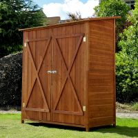 Garden Wooden Shed Storage Unit Tool Bike Outdoor Patio
