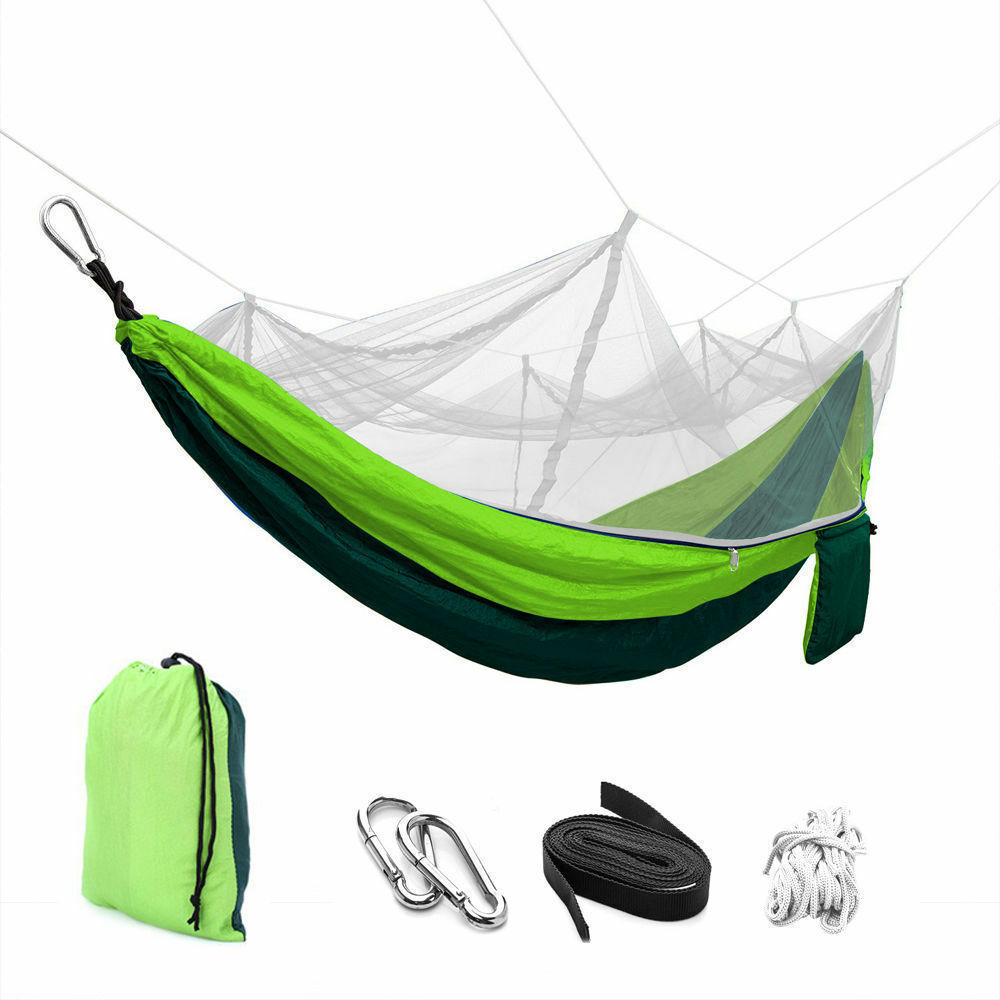 US 2 Person Travel Outdoor Camping Tent Hanging Hammock