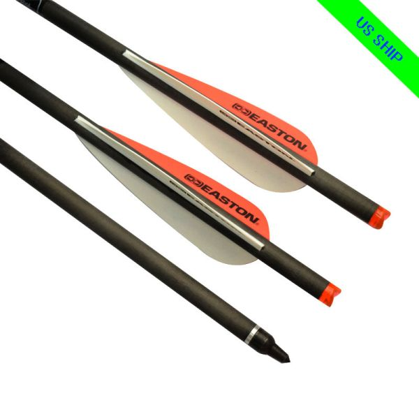 6x 20 Archery Crossbow Bolts Carbon Arrows Hunting Moon