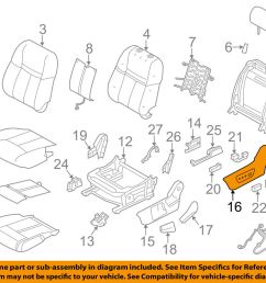 nissan oem 14 18 rogue driver seat outer finish panel 873804bb3a ebay nissan seat diagram [ 1000 x 798 Pixel ]