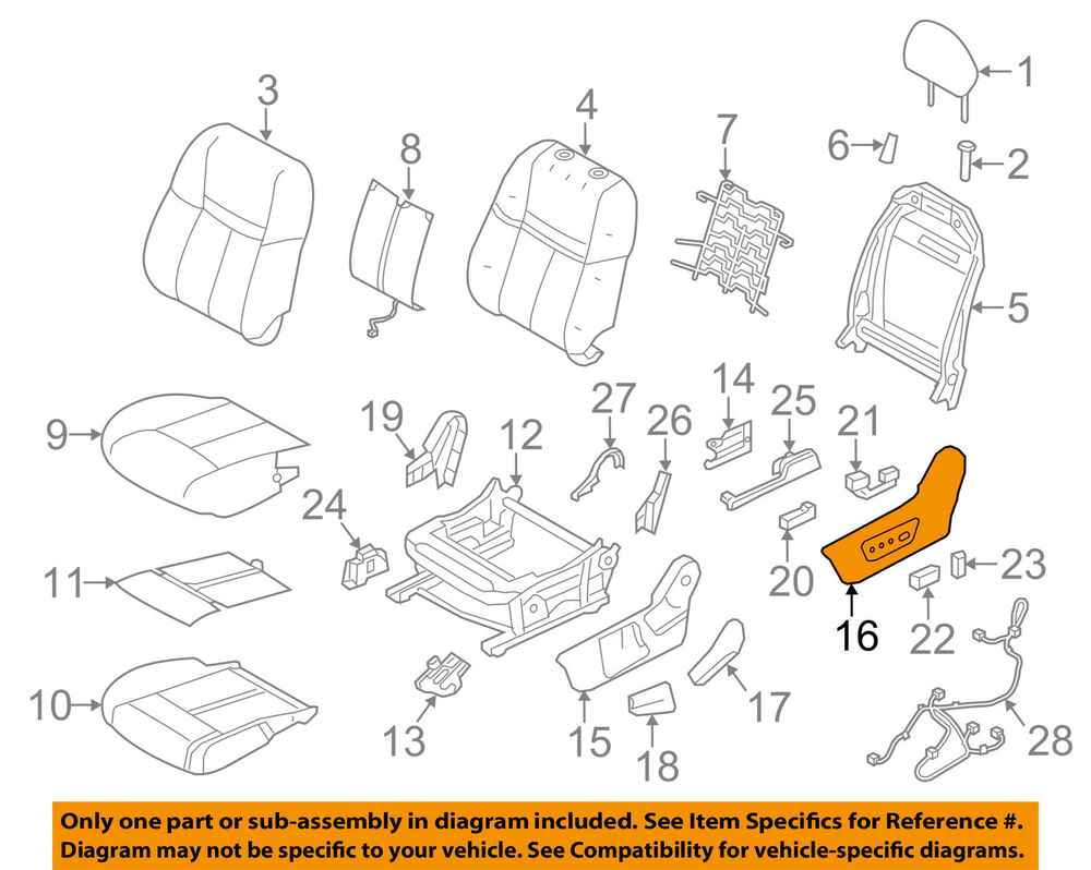 hight resolution of nissan oem 14 18 rogue driver seat outer finish panel 873804bb3a ebay nissan seat diagram