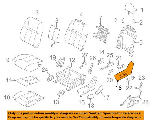 small resolution of nissan oem 14 18 rogue driver seat outer finish panel 873804bb3a ebay nissan seat diagram