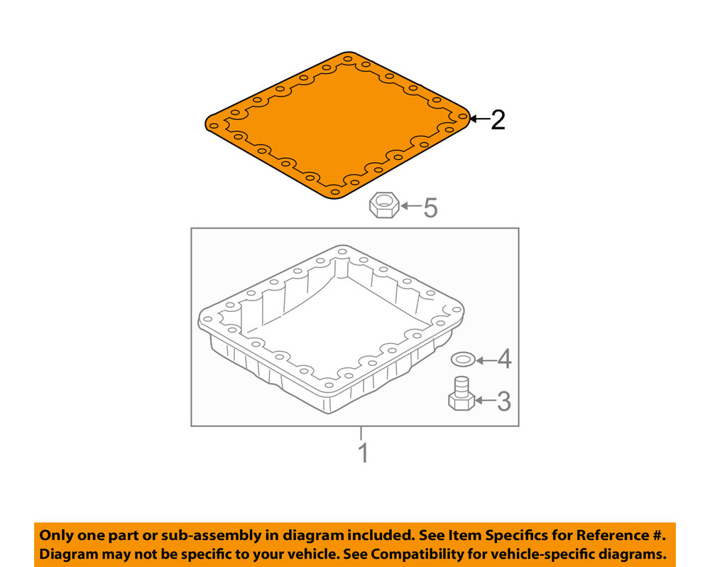 medium resolution of details about nissan oem automatic transmission pan gasket 3139790x00