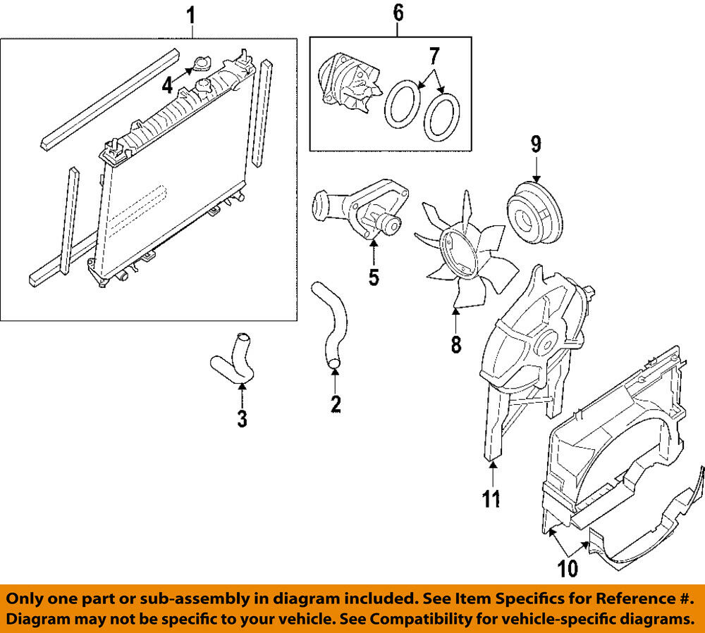 hight resolution of details about nissan oem 05 18 frontier engine water pump 210107y026