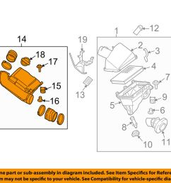 details about nissan oem 05 16 frontier 4 0l air cleaner intake duct tube hose assy 16576ea200 [ 1000 x 798 Pixel ]