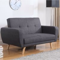 Vintage Sofa Bed Furniture Living Room Retro Fabric Couch