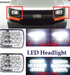 details about 7 x6 led h6054 headlight beam for chevy express cargo van 1500 2500 3500 4500 [ 1000 x 1000 Pixel ]