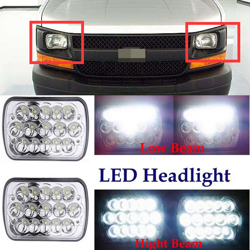 hight resolution of details about 7 x6 led h6054 headlight beam for chevy express cargo van 1500 2500 3500 4500