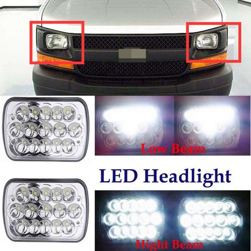 small resolution of details about 7 x6 led h6054 headlight beam for chevy express cargo van 1500 2500 3500 4500