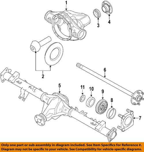 small resolution of details about nissan oem 04 15 titan rear differential pinion seal 38189zj00a