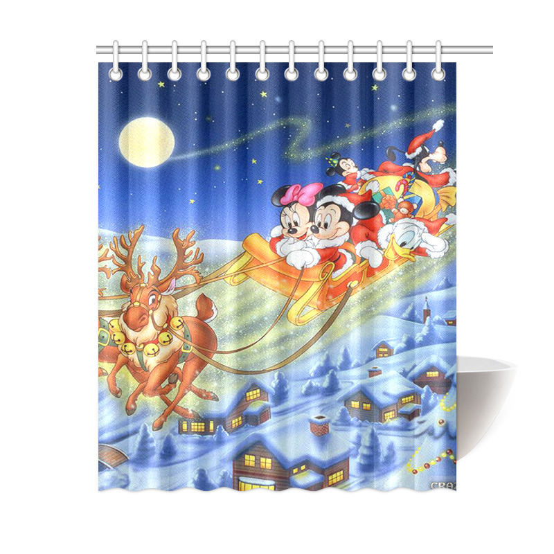 Minnie Mouse Mickey Mouse Merry Christmas Waterproof Bath