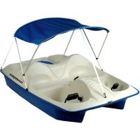 Paddle Boat Canopy Pontoon Pedal Raft 5 ppl Lake River ...