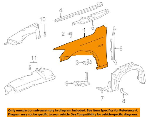 small resolution of details about lexus toyota oem 11 13 is250 front fender quarter panel right 5380153140