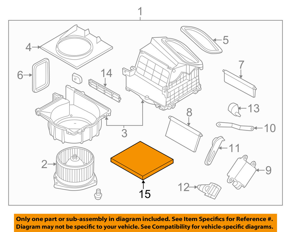 hight resolution of details about nissan oem 09 18 370z cabin air filter b72771ea0b