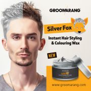 silver colour grey hair wax men